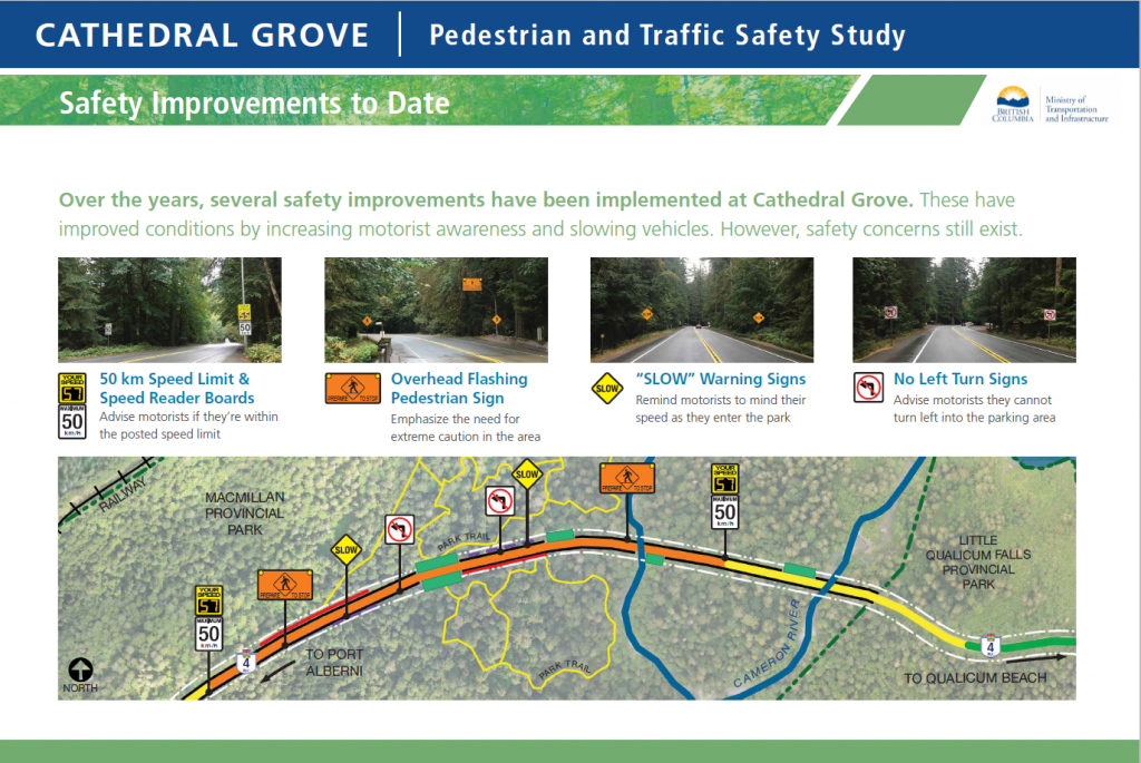 Information Board on safety improvements to date.