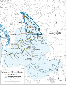 A map of the Columbia River Basin