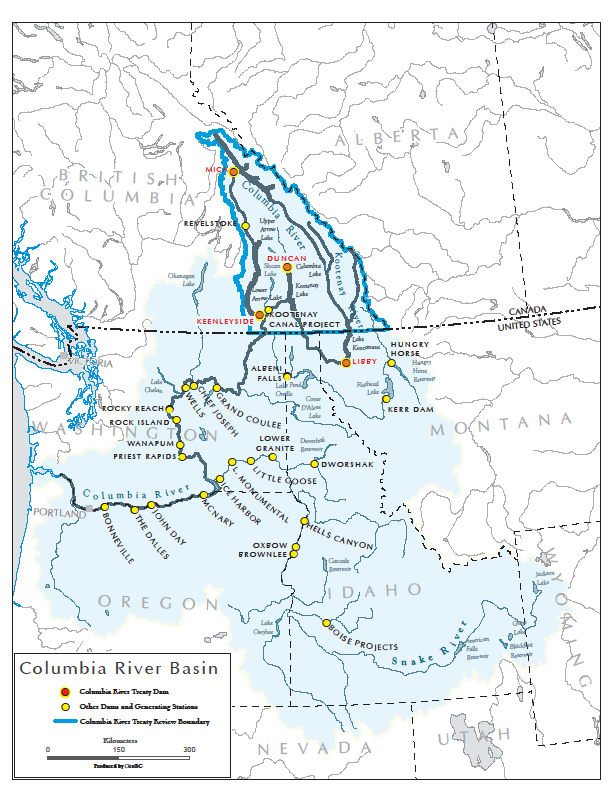 Modernization of the Columbia River Treaty on canadian columbia river dams map, wanapum dam columbia river on map, us dams and reservations map, snake river dams map, bonneville dam map,