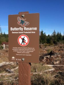 Butterfly Reserve sign