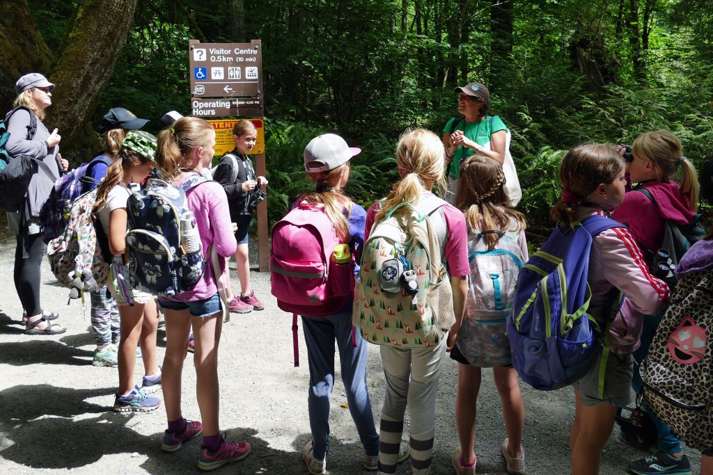 Students on a field trip to BC Parks through the Habitat Conservation Trust Foundation's program, GO Grants.
